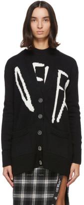 Off-White Black Graffiti Cardigan