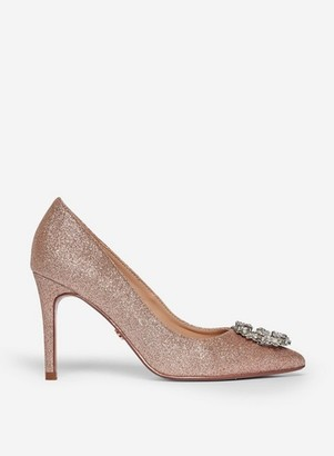 Dorothy Perkins Womens Showcase Pink 'Gladly' Pointed Trim Court Shoes, Pink