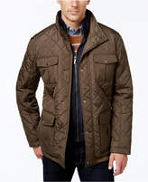London Fog Men's Quilted Jacket with Zip Inset