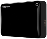 Toshiba Canvio Connect II Portable Hard Drive, USB 3.0, 2TB