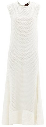 ALBUS LUMEN Necto Cotton-crochet Maxi Dress - Cream
