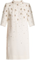 Goat Alexa bead-embellished wool-crepe dress