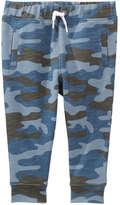 Joe Fresh Baby Boys' Camo Jogger Pant, Dusty Blue (Size 3-6)