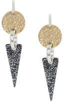 BCBGMAXAZRIA Two-Tone Hammered Geometric-Plate Drop Earrings