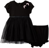 Pippa & Julie Black Top with Tulle Skirt Dress Set (Baby Girls 12-24M)