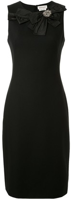 Alexander McQueen Bow-Embellished Pencil Dress