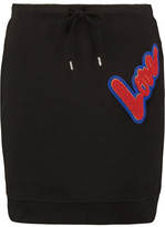 Love Moschino Appliquéd Cotton Mini Skirt