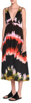 Tomas Maier Sleeveless Paint-Striped Sundress, Multi Colors