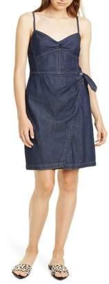 Rebecca Taylor Wrap Front Denim Minidress