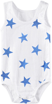 Aden Anais Aden + Anais Sleeveless muslin onesies Medium Ultramarine Star