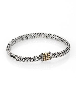 John Hardy Dot 18K Yellow Gold & Sterling Silver Extra-Small Chain Bracelet