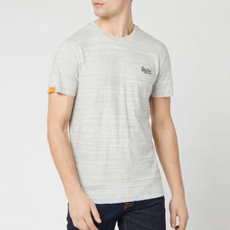 Superdry Men's Orange Label Vintage Embroidery T-Shirt - Desert Grey Space Dye - S