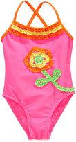 Flapdoodles Kids Swimsuit, Little Girls Ruffled Flower One-Piece