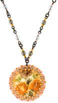 Erickson Beamon Floral Pendant Necklace