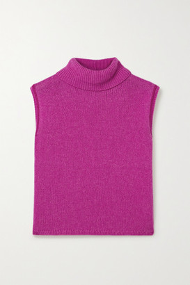 The Row Giselle Cashmere Turtleneck Sweater - Fuchsia