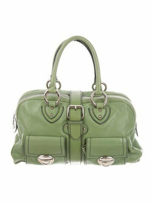 Marc Jacobs Leather Blake Satchel Green