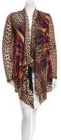 Fuzzi Wool Leopard Print Cardigan w/ Tags