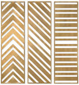 Uttermost Zahara 3-Pc. Gold-Tone Panel Wall Art Set