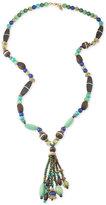 Lauren Ralph Lauren Gold-Tone Beaded Tassel Pendant Necklace