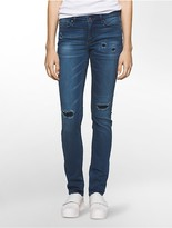 Calvin Klein Ultimate Skinny Ripped Ankle Jeans