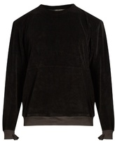 Longjourney Nash crew-neck aged cotton-velvet sweatshirt