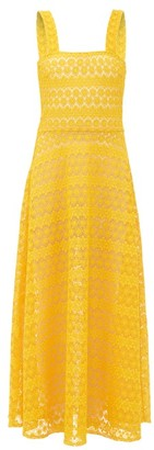 Gioia Bini Lucinda Macrame-lace Maxi Dress - Womens - Yellow