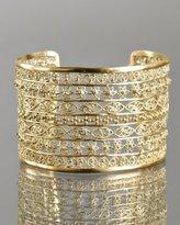 gold filigree linear cuff