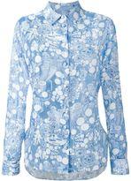 Carven printed shirt - women - Linen/Flax/Polyester/Viscose - 42