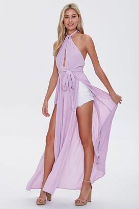 Forever 21 Crinkled Cutout M-Slit Maxi Dress