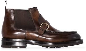 Santoni Buckle-Strap Ankle Boots