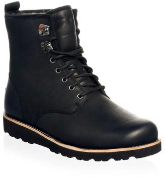 UGG Men's Hannen UGGpure-Lined Leather Waterproof Combat Boots
