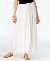 INC International Concepts Crochet-Trim Maxi Skirt, Created for Macy's