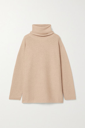 LAUREN MANOOGIAN Oversized Alpaca Turtleneck Sweater - Beige