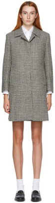 Thom Browne Black and White Houndstooth Coat