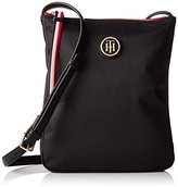 Tommy Hilfiger Womens Poppy Flat Crossover Messenger Bag