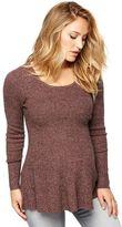 A Pea in the Pod Peplum Maternity Sweater Tunic