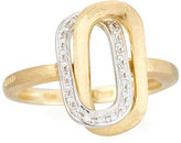 Marco Bicego Murano 18k Pave Diamond Overlapping Link Ring, Size 7