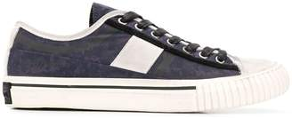 John Varvatos patterned low top sneakers