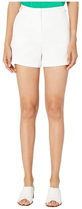 Milly Cady Aria Button Shorts (White) Women's Shorts