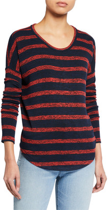 Rag & Bone The Knit Striped Long-Sleeve Top