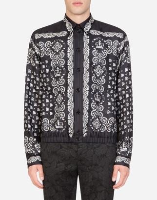 Dolce & Gabbana Silk Jacket In Bandana Print