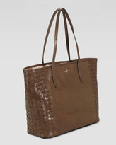 Cole Haan Victoria Woven-Side Tote Bag, Tan