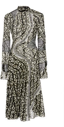 Proenza Schouler Printed Silk-Blend Midi Dress