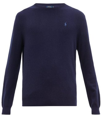 Polo Ralph Lauren Logo-embroidered Cashmere Sweater - Mens - Navy