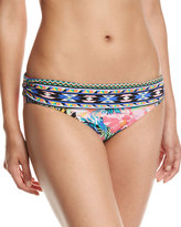 LaBlanca La Blanca Tropicali Shirred-Band Swim Bottom, Multipattern