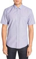 Zachary Prell Men's 'Gilles' Trim Fit Short Sleeve Sport Shirt