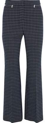 Sonia Rykiel Zip-embellished Checked Tweed Flared Pants