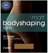 Boots Bodyshaping Matt Natural Tan Tights 2 Pair Pack