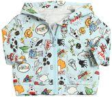 Fendi Space Printed Hooded Cotton Sweatshirt