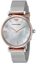 Emporio Armani Women's AR2067 Retro Two Tone Watch